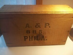 Vintage A P 885 Phila Shipping Crate Wooden Box