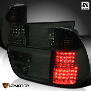 2000 2006 Bmw X5 E53 Smoke Led Tail Lights Rear Brake Lamps Left Right Pair
