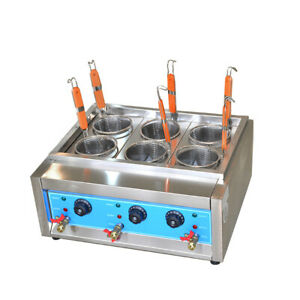 Commercial 4kw 6kw Table Top 4 6 Baskets Electric Noodles Cooker pasta Cooking S
