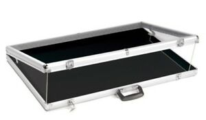 Brand New Large Portable Display Countertop Showcase Aluminum Case Lock 34 x22x3