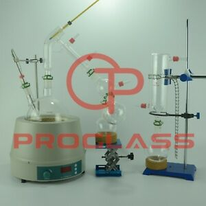 Proglass 2l Short Path Distillation Kit With Display Magnetic Heating Mantle