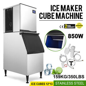 350 Lbs 24h Commercial Ice Maker Machine Bars 850w Reservation Function 110v