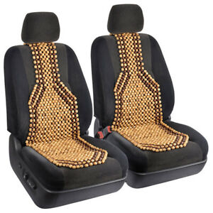 Wooden Beaded Car Seat Cushion Comfortable Massage Chair Support Truck Suv 2pc