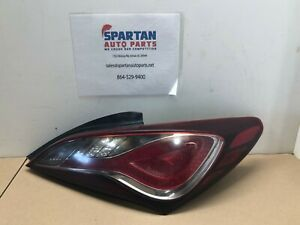 2013 2016 Hyundai Genesis Coupe Rh Right Passenger Side Led Tail Light Tinted