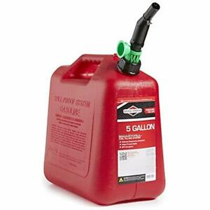 Gas Can 5 Gallon Plastic No Spill Self Venting Spout Auto Shutoff Fuel Canister