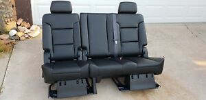2007 2019 Tahoe Escalade Yukon Denali Second 2nd Row Bench Seat Leather Oem