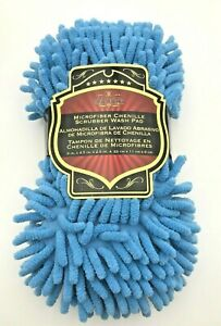 Microfiber Chenille 2 In 1 Sponge Pad And Scrubber Tool For Car Washing