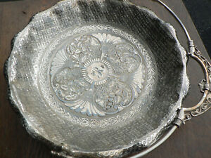 Antique Bride S Basket James W Tufts Silver Plate Dish 2743 Boston