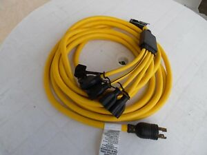 Briggs Stratton 30 Amp Generator Adapter Cord Set 25 Long
