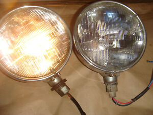 vintage Sealed Beam Auto Head Lights Div Car Truck Light Lamp