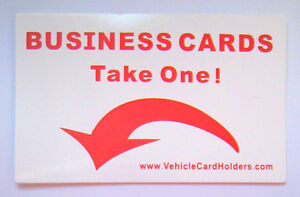 5x take One Stickers For Vehicle Business Card Holders Spares For Vans Cars