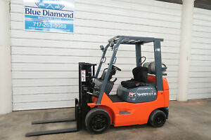 Toyota 7fgcu20 4 000 Cushion Tire Forklift 80 Truckers Mast Lp Gas