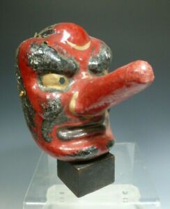 Bali Balinese Paper Mache Similar To Japanese Old Forest God Mask Tengu 20th C