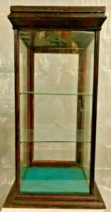 Vintage Countertop General Store Glass Wood Display Case W Back Door