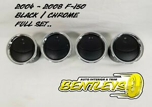 2004 2005 2006 2007 2008 Ford F 150 F150 Dash Ac Vent Vents Black Chrome Set