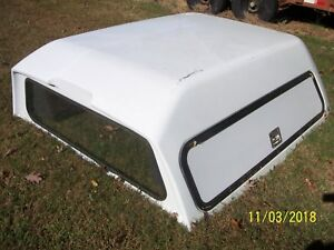 Leer Truck Cap 180cc Fiberglass Tool Bin Side Door Access Very Nice