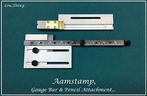 Aamstamp Machine Gauge Bar Pencil Attachment Hot Foil Stamping Machine
