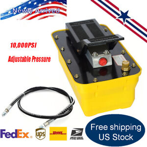 Auto Body Shop Air Hydraulic Foot Pump 10 000 Psi Pedal High Pressure 2 3l