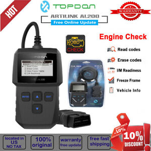 Car Vehicle Auto Diagnostic Scanner Obd2 Eobd Obdii Scan Tool Engine Code Reader