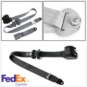 Gray 3 Point Car Seat Belt Automatic Retractable Safety Lap Adjustable 88 137cm