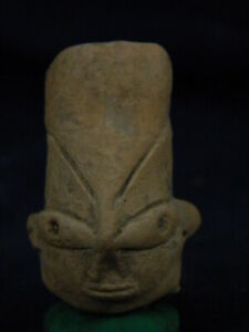 Ancient Teracotta Mother Goddess Head Indus Valley 800 Bc Tr8029