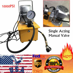 Electric Driven Hydraulic Pump With Single Acting Manual Valve Electric Oil Pump