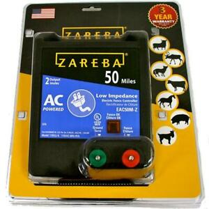 50 Mile Ac Low Impedance Energizer Zareba Fence Electric Fuseless Rugged Case