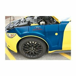 New Ford Racing Mustang 2015 2017 Blue Molded Fender Cover M 1822 m