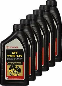 6 Quart Atf T iv Automatic Transmission Fluid Oil Genuine For Toyota Lexus Scion