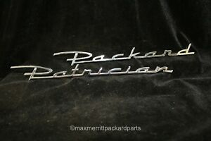 1954 55 Packard Patrician Trunk Script Both Pieces