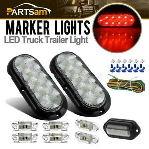 Clear Lens Led Trailer Light Kit s t t 2 57 Side Marker license Plate Lamp wire