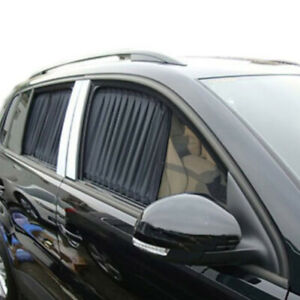 2x Car Auto Uv Protective Sun Shade Curtains Side Window Visor Mesh Cover Shield