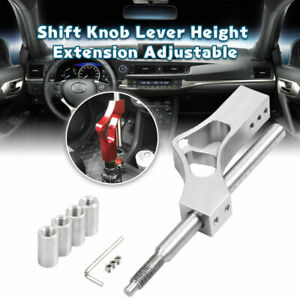 Car Metal Shift Knob Extension Adjustable Height Lever Extender Gear Shifter