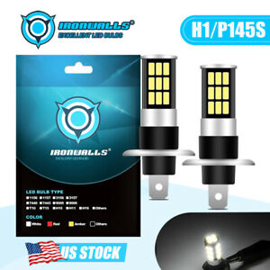 H1 Cree Led Fog Light Bulbs Headlight Conversion Kit Super Bright 6000k White