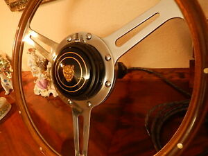 Jaguar Xk150 Wood Steering Wheel Derrington 16 Original Vintage 1950 S Nos New