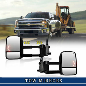 Left Right Power Heated Signal Tow Mirror For 03 06 Chevrolet Chevy Silverado