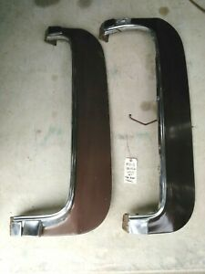 1971 76 Cadillac 2 Fender Skirts brown For Fleetwood Deville Calais Gc