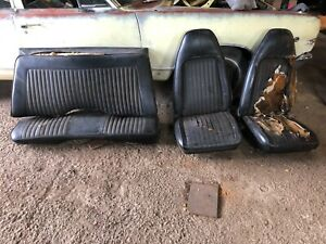 1972 1973 1974 Dodge Challenger E Body Plymouth Cuda Bucket Seats Rear Tracks