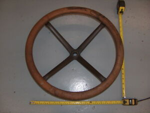 Vintage Model T Wooden 4 Spoke Steering Wheel 18 Ford Chevy Buick Antique