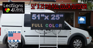 Led Sign Outdoor Full Color 51 x 25 Wifi lan Programmable made In Usa