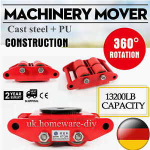 Industrial Machinery Mover W 360 rotation Cap 13200lbs 6t Dolly Machinery Skate