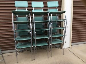 15 Vtg Heywood Wakefield Adult Size Lower 16 Seat Height Chairs Very Good