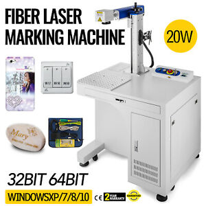 Fiber Laser Marking Machine 20w Cabinet Type Printing Autocad High Precision