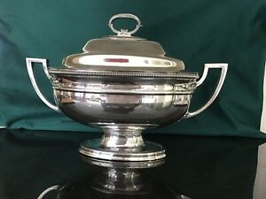 Antique Silverplate Covered Tureen Server