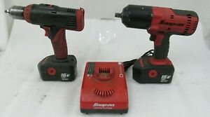 Snap On 18v Cordless 1 2 Impact Ct6818 And Cdr6850 1 2 Drill Driver W Batt