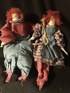 Primitive Raggedy Ann And Andy Doll