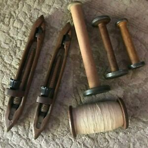 Vintage Wooden Spools And Shuttles