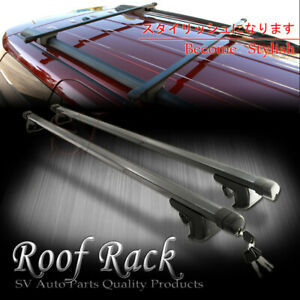 For Jeep Roof Rack Key Lock Cross Bar Top Rail Mount Black Square Cargo Carrier