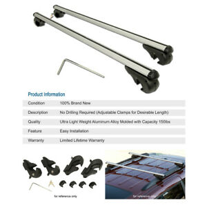 Aluminum 48 Cross Bars Rail Tower Mount Roof Top Rack Cargo Carrier For Jeep