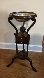 Vintage Old Dominion Wash Stand By Kittinger Od2090 W Stieff Pewter Bowl